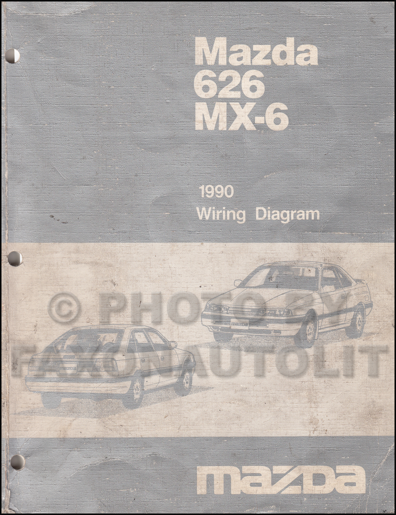1990 Mazda 626 and MX-6 Wiring Diagram Manual Original