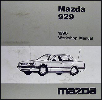 1990 Mazda 929 Repair Manual Original