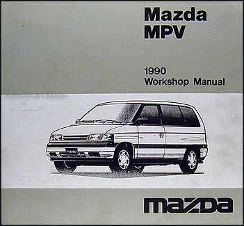 1990 Mazda MPV Repair Manual Original