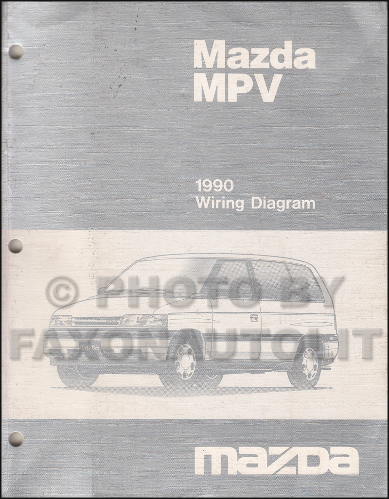 1990 Mazda MPV Wiring Diagram Manual Original all 3.0, early 2.6