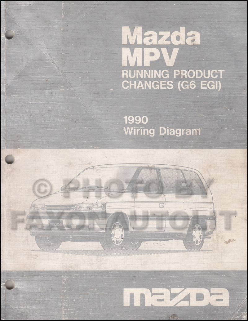 1990 Mazda MPV Wiring Diagram Manual Original (G6 EGI) for later model 2.6L