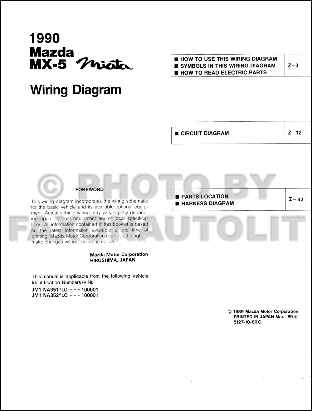 Mazda Eunos Wiring Diagram Library 2008 Miata Mx 5 Diagrams 1990 Manual Original Transmission Cars Click On