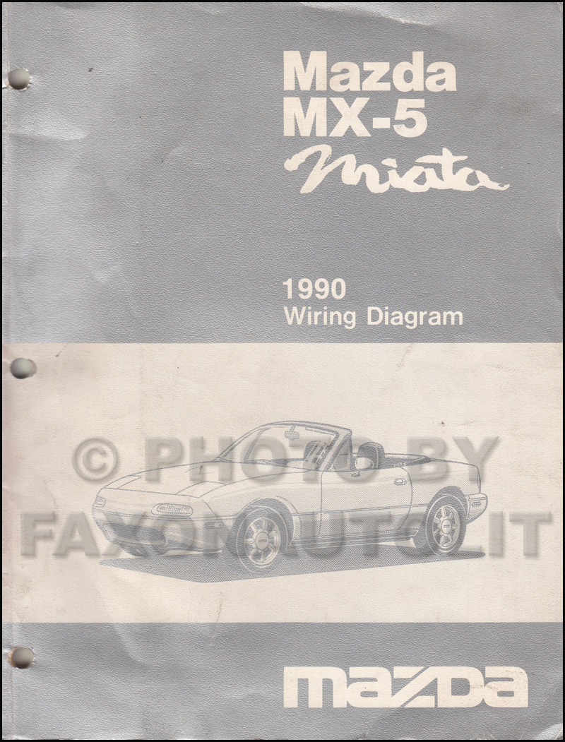 1990 Mazda MX-5 Miata Wiring Diagram Manual Original Manual Transmission cars
