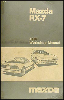 1990 Mazda RX-7 Repair Manual Original