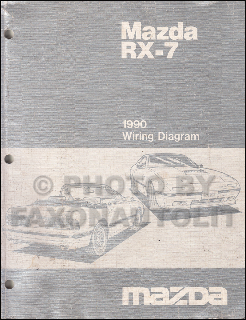1990 Mazda RX-7 Wiring Diagram Manual Original RX7
