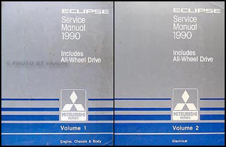 1990 Mitsubishi Van & Wagon Repair Manual 2 Volume Set Original