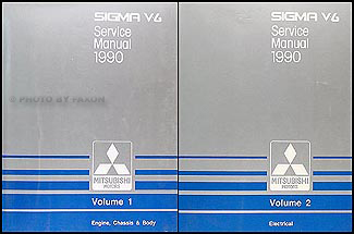 1990 Mitsubishi Sigma V6 Repair Manual Original