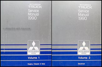 1990 Mitsubishi Truck Repair Manual Set Original