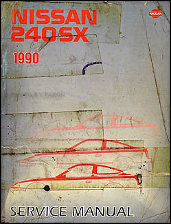 1990 Nissan 240SX Repair Manual Original