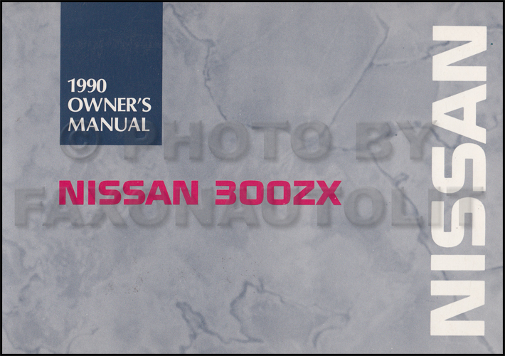 1990 Nissan 300ZX Owner's Manual Original on