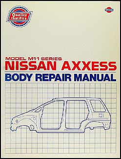 1990 Nissan Axxess Body Repair Manual Original