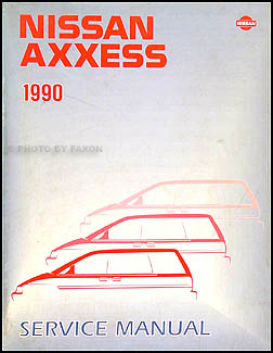 1990 Nissan Axxess Van Repair Manual Original