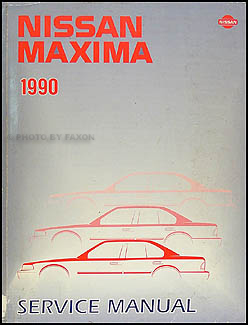 1990 Nissan Maxima Repair Manual Original