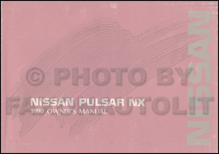 1990 Nissan Pulsar Nx Wiring Diagram Manual Original