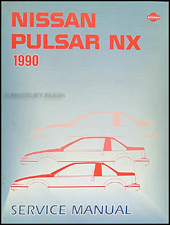 1990 Nissan Pulsar NX Repair Manual Original