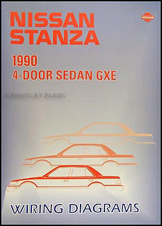 1990 Nissan Stanza Wiring Diagram Manual Original