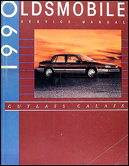 1990 Oldsmobile Cutlass Calais Shop Manual Original