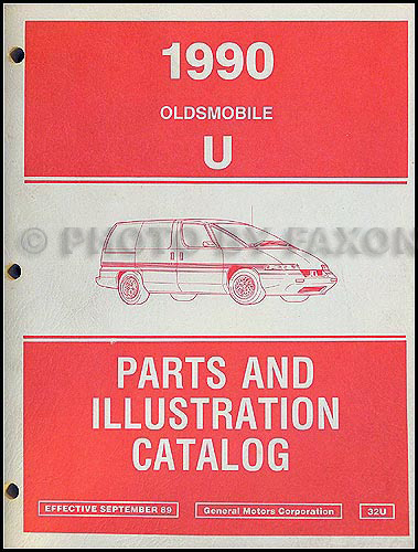 1990 Oldsmobile Silhoutte Parts Book Original