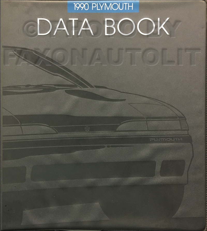 1990 Plymouth Data Book Original