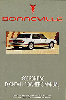 1990 Pontiac Bonneville Original Owner Manual LE/SE/SSE