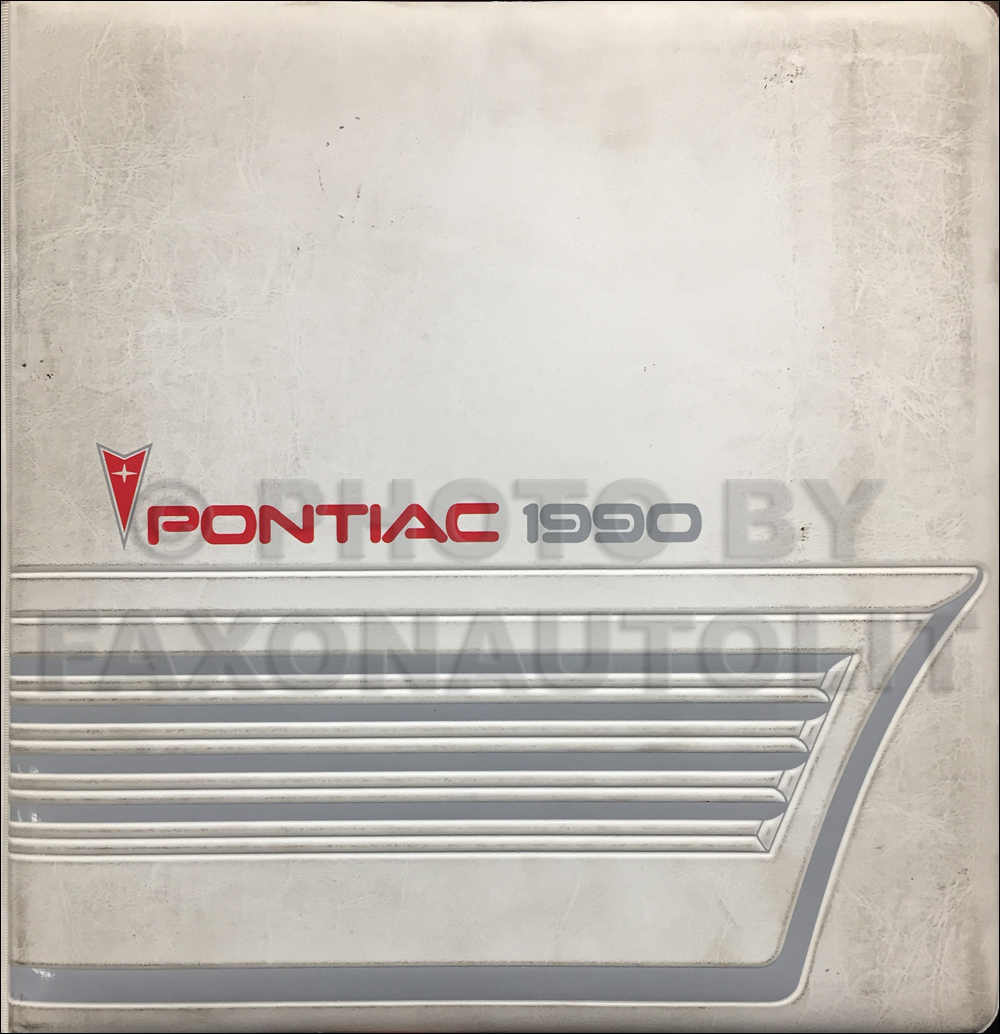 1990 Pontiac Color & Upholstery, Data Book Original