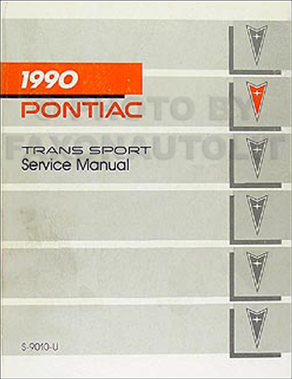 1990 Pontiac Trans Sport Van Repair Manual Original