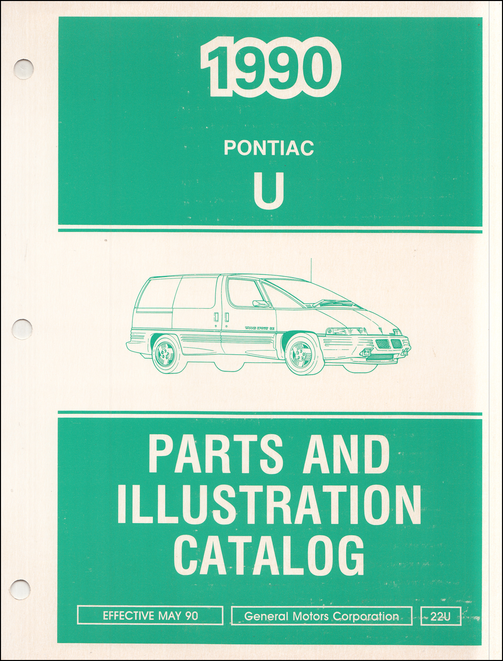 1990 Pontiac Trans Sport Parts Book Original