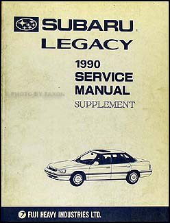 1990 Subaru Legacy Repair Manual Supplement Original