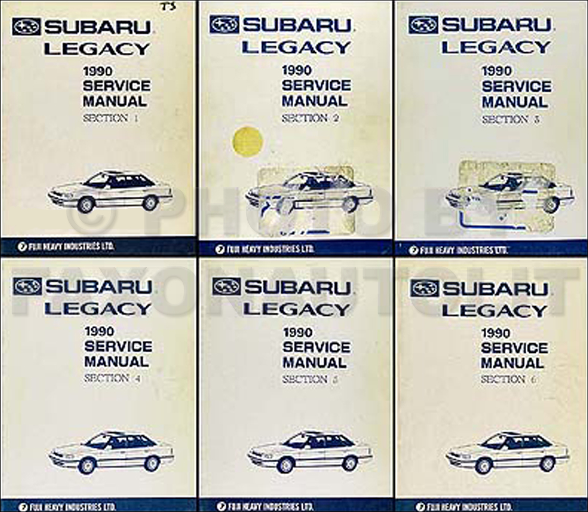1990 Subaru Legacy Repair Manual Set Original