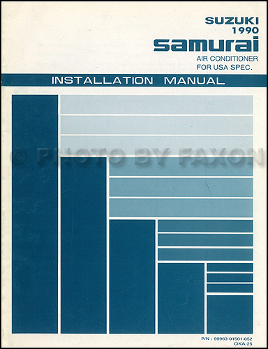 1990 Suzuki Samurai Air Conditioner Installation Manual Original