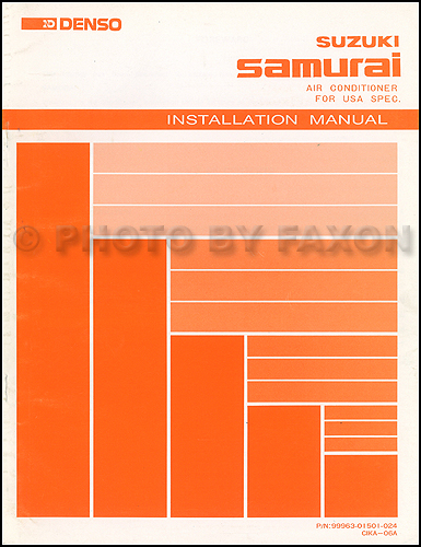 1988-1989 Suzuki Samurai A/C Installation Manual Original