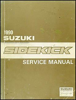 1990 Suzuki Sidekick Repair Manual Original