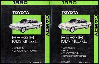 1990 Toyota Camry Repair Manual 2 Volume Set Original
