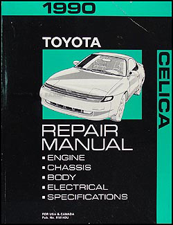 1990 Toyota Celica Repair Manual Original