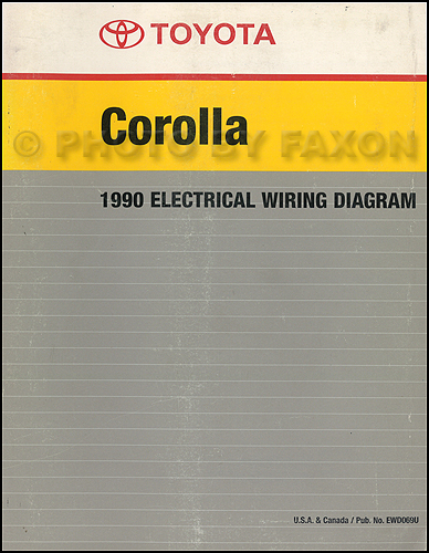 1990 toyota corolla wiring diagram manual factory reprint 87 Toyota Pickup Wiring Diagram