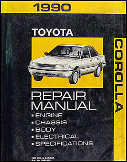 1988 1992 toyota corolla body collision manual original rh faxonautoliterature com 2010 Toyota Corolla Engine Diagram 2010 Toyota Corolla Engine Diagram