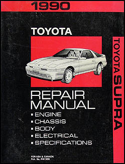 1990 Toyota Supra Repair Manual Original