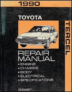 1990 Toyota Tercel Repair Manual Original