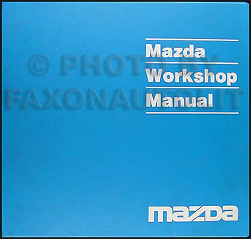 1992 Mazda MPV Repair Manual Original