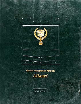 1991-1992 Cadillac Allante Shop Manual Original