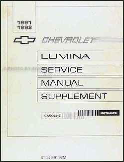 1991-1992 Chevy Lumina Flex Fuel (Methanol) Engine Repair Shop Manual Supp.