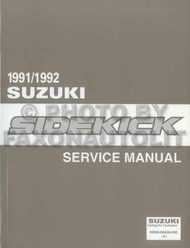 1991 Suzuki Sidekick Repair Manual Original