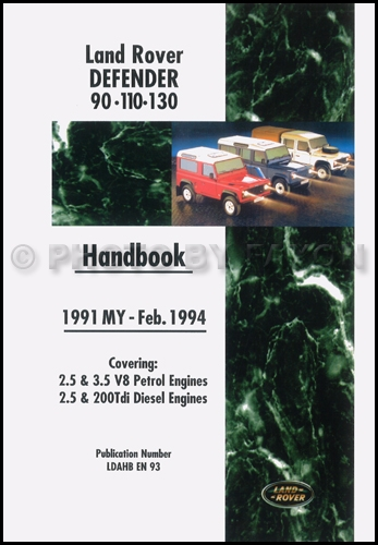 1991-1994 Land Rover Defender Owners Manual Handbook Reprint 90 110 134