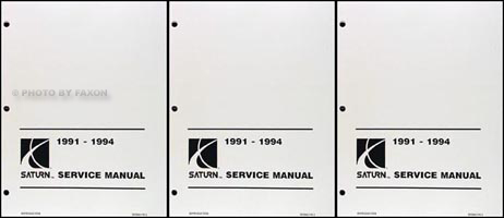 1991-1994 Saturn Shop Manual Factory Reprint
