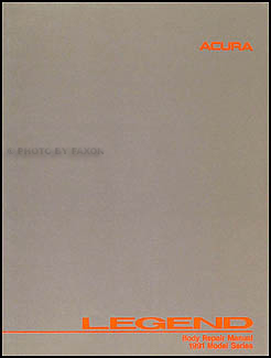 1991-1995 Acura Legend Sedan Original Body Repair Manual