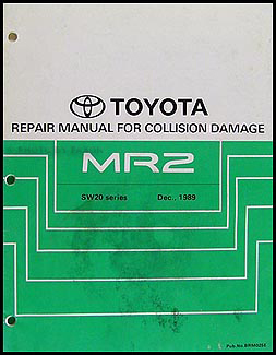 1991-1995 Toyota MR2 Body Collision Repair Manual Original