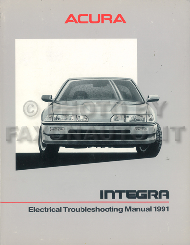 1991 Acura Integra Electrical Troubleshooting Manual Original