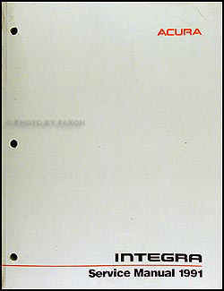 1991 Acura Integra Repair Shop Manual Original