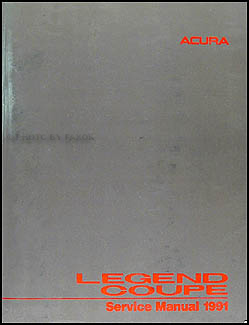 1991 Acura Legend Coupe Shop Manual Original