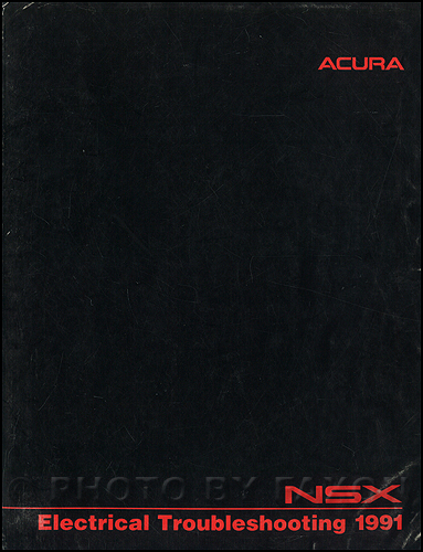 1991 Acura NSX Electrical Troubleshooting Manual Original